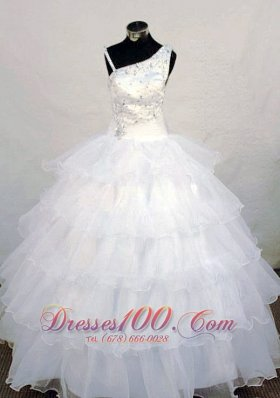 Cascading Ruffles Asymmetrical Pageant Dresses Beading