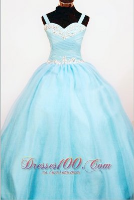 Ruching Appliques Ball Gown for Sweet Sixteen Straps