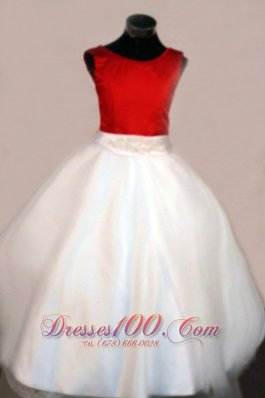 Scoop Little Girl Pageant Dresses Beading Colored