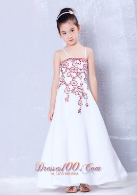 Wine Red Infant Pageant Dresses Halter Embroidery