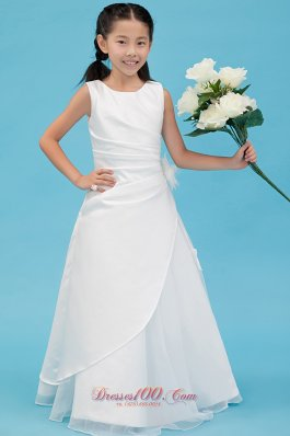 Taffeta Pageant Dresses For Teens White Scoop