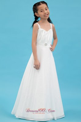 Pageant Dresses For Teens White Straps Ruch lowers