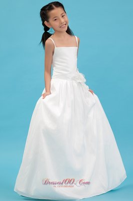 Cheap Straps Taffeta Pageant Dresses For Teens