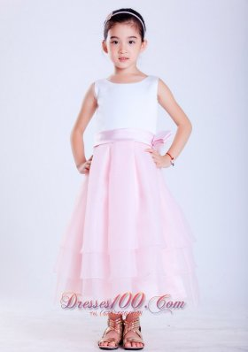 Baby Girl Pageant Dresses Pink Scoop Flower