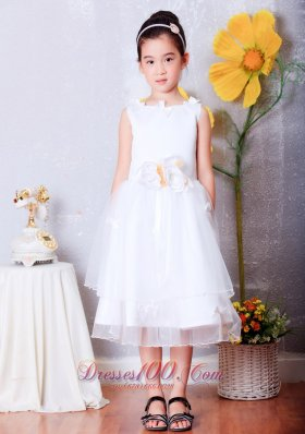 Organza Pageant Dresses Flower Girls Hand Made Flowers