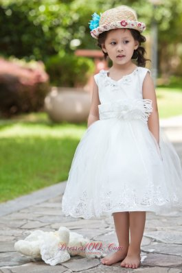 Beading Pageant Little Girl Dress Hand Made Flowers