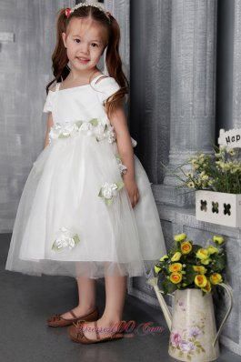 Hand Made Flowers Pageant Little Girl Dress Square