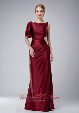 Mother In Law Dresses For Fall Weddings burgundy Bateau Mother in law