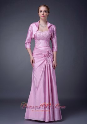 Baby Pink Column Strapless Motb Dress Taffeta