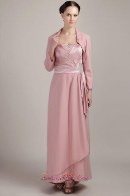Wide Straps Column / Sheath Beading Mother Bride Dress