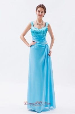 Beading Pattern Straps Column Prom Evening Dress