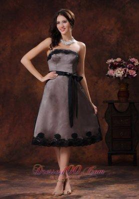 Tea-length Sash Mother Of The Bride Dress 2013