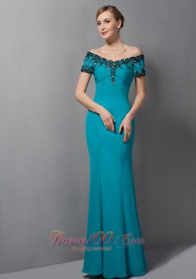 teal mermaid mother dress off the shoulder
