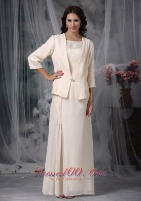 Champagne Mother Of The Bride Dress Chiffon Appliques