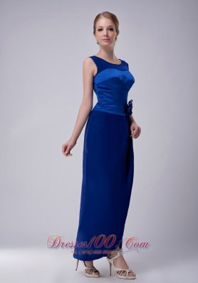 Royal Blue Mother Of The Groom Dress Ankle-length