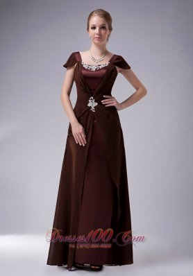 Brown Square Mother Of The Groom Dresses Chiffon