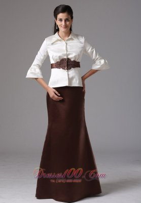 High Neck Mother Of Bride Dress With Sleeves 2013