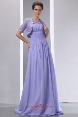 Lalic Ruched Sweep Train Mothers Dresses For Weddings