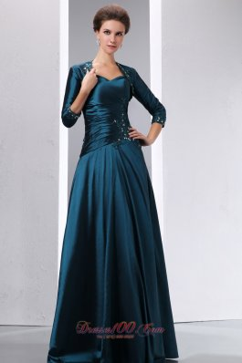 Lave Blue Floor Length 2013 Mom'S Dress With Ruches