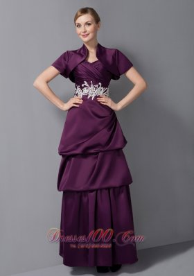 Layers Ruche Mother Of Bride Dress With Empire Waist