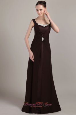 Square Neck Appliques Straps Mother Of The Bride Dress