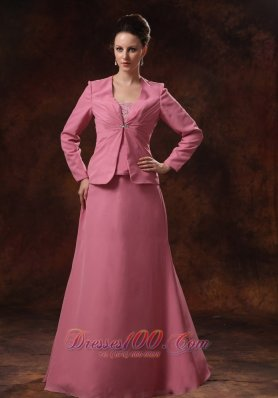 With Coat Appliques Chiffon Mother Of The Bride Dress