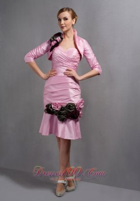 Sweetheart Ruch Hand Made Flowers Mother's Dress