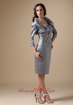 Sweetheart Beading Knee-length Mother Of The Bride Dress