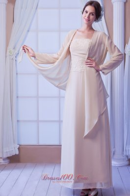 Chiffon Appliques Beaded Mother Of The Bride Dress