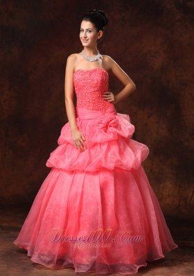 Pick-ups Prom Formal dressTiered Ruffles Beading