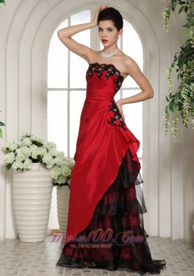 Evening Dress on Wine Red And Black Applique Prom Holiday Dress   Us 165 88
