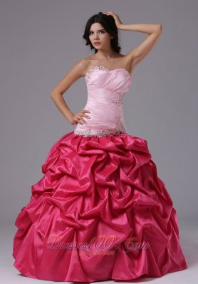 Coral and Rose Pink Ruffles Dress For Military Ball Gowns