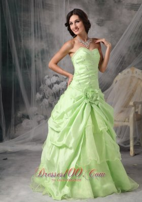 Beading Hand Made Flower Layered Ruffles Prom Gowns