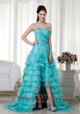 Brush Train Organza Beading Prom / Evening Dress HL