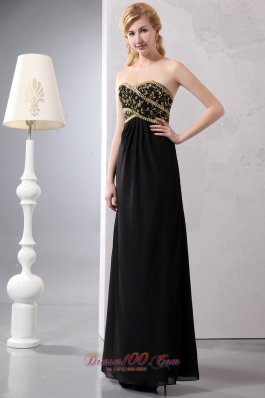 Mother Of Bride Dress Ankle-length Gold and Black