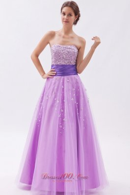 A-line / Princess Prom Dress Beading Decorated Skirt