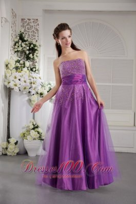 PrincessTulle and Taffeta Beading Prom / Graduation Dress