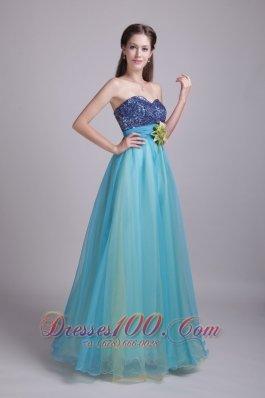 A-Line / Princess Handle-made Flower Prom Dress Sequin
