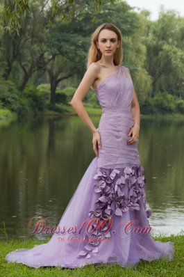 Sweep / Brush Pieces Petals Skirt One Shoulder Prom Dress