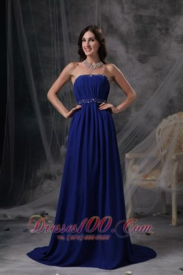 Empire Evening Dress Chiffon Ruch Pleating Simple