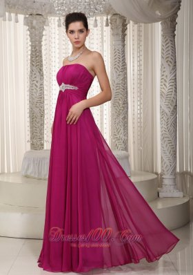 Empire Prom / Party Dress Beading Pattern Chiffon