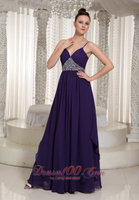 Spaghetti Straps Evening Dress For Formal Beaded  Front