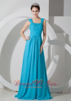 Square Prom Dress Ruched Throughout Straps Empire