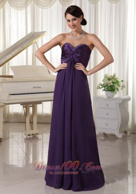 Taffeta and Chiffon Beaded Bustline Prom / Evening Dress
