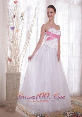 A-Line Pink Details Prom / Evening Dress Rhinestones