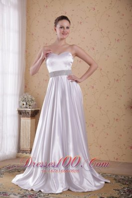 Empire Ivory Beading Midsection Prom / Pageant Dress