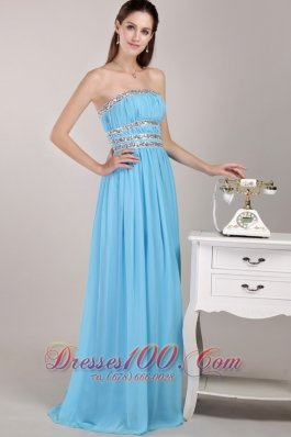 Beading Prom / Party Dress Three Belts on Mid Pleating