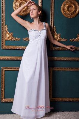 2013 White One Shoulder prom Dress Designer