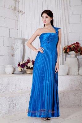 Royal Blue Prom Dress for Junior One Shoulder