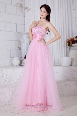 Baby Pink Sweetheart Beading Prom Dress Sash